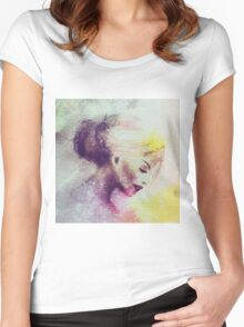Galaxy Girl 7 Women's Fitted Scoop T-Shirt