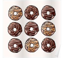 Chocolate Donuts Pattern Poster