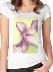 Single Clematis Women's Fitted Scoop T-Shirt