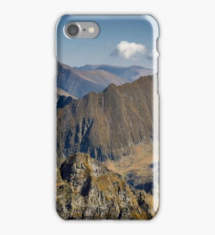 Aerial view of mountain ranges iPhone Case/Skin