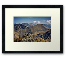Aerial view of mountain ranges Framed Print
