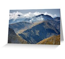 High mountains Greeting Card