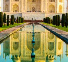 Reflection Of Taj Mahal Sticker