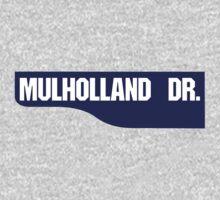 Mulholland Drive, Old-Style Street Sign, Los Angeles, California Kids Tee