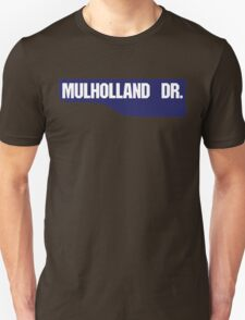 Mulholland Drive, Old-Style Street Sign, Los Angeles, California T-Shirt