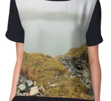 Glacial lake in the mountains Chiffon Top