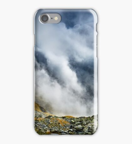 Mountains and clouds landscape iPhone Case/Skin