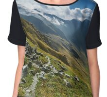 Hiking trail in the mountains Chiffon Top