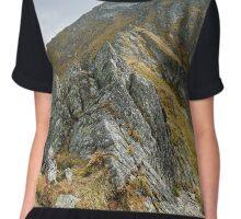Mountain range landscape Chiffon Top