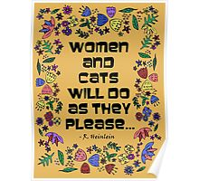 Women & Cats Quote Poster
