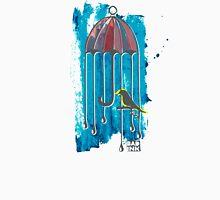 Bird In Umbrella Cage (colored) Unisex T-Shirt