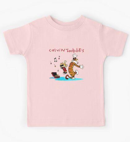 Calvin And Hobbes Dancing Kids Tee