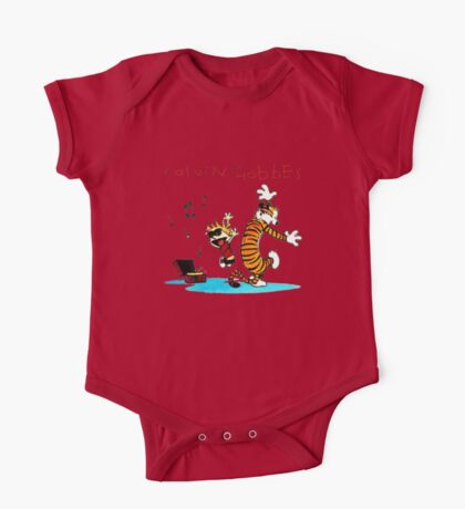 Calvin And Hobbes Dancing One Piece - Short Sleeve