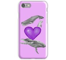 Loving marine mammals - version purple iPhone Case/Skin