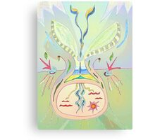 Thought Seed - Abstract Drawing - Collective Consciousness Canvas Print