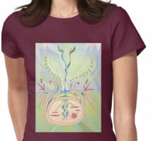 Thought Seed - Abstract Drawing - Collective Consciousness Womens Fitted T-Shirt