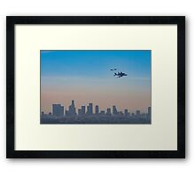 L.A. Space Shuttle Flyover  Framed Print