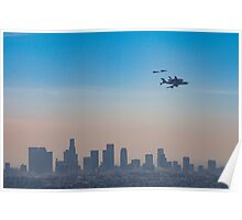 L.A. Space Shuttle Flyover  Poster