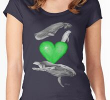 Loving marine mammals - version green Women's Fitted Scoop T-Shirt