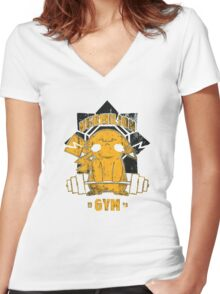 Vermilion Gym Women's Fitted V-Neck T-Shirt