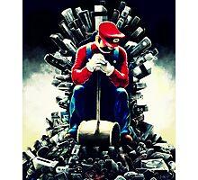 Super Mario's game of thrones Photographic Print