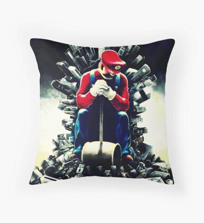 Super Mario's game of thrones Throw Pillow
