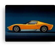 Lamborghini Miura Painting Canvas Print