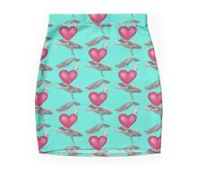 Loving marine mammals - version pink Mini Skirt