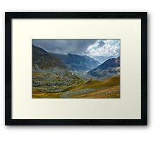 Mountain range landscape Framed Print