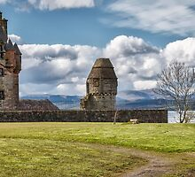 Newark Castle At Port Glasgow, Scotland by Jeremy Lavender Photography