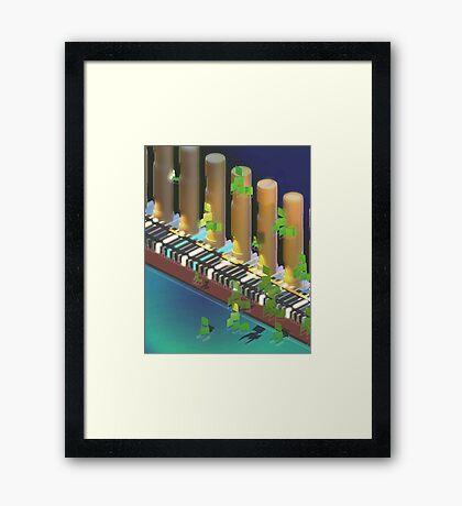 Riverside Demi-Normal Railway Framed Print