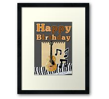 Music birthday card Framed Print