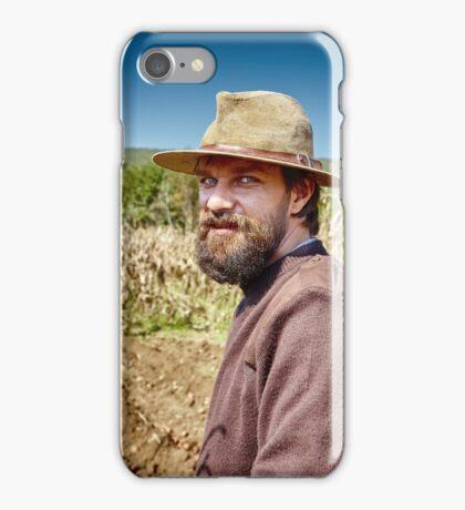 Young farmer closeup portrait outdoor iPhone Case/Skin