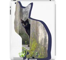 Shaped-Black Kitten Explorer iPad Case/Skin
