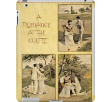 Vintage romance at the tennis court iPad Case/Skin