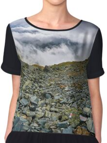 Mountains and clouds landscape Chiffon Top