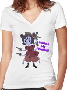 Mafia Boss Muffet Women's Fitted V-Neck T-Shirt