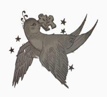 Birds Puzzle Stars  One Piece - Long Sleeve