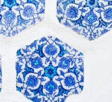 Blue Tile Pattern Sticker