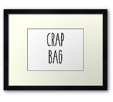 Friends - Crap Bag Framed Print