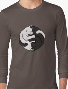 Yin Yang Cats Long Sleeve T-Shirt