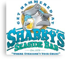 Sharky's Seaside Bar Canvas Print