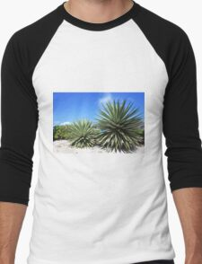 Aloe Vera plant at the beach Men's Baseball ¾ T-Shirt
