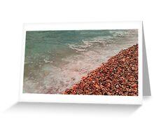 beach, sea, waves Greeting Card