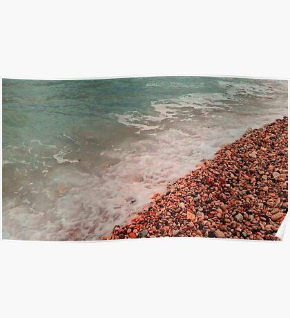 beach, sea, waves Poster