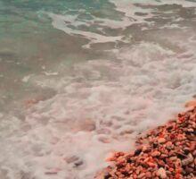 beach, sea, waves Sticker