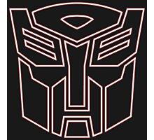 Autobot Logo Glow - Red Photographic Print