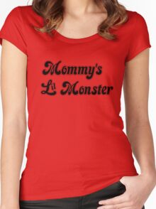 Mommy's Lil Monster Women's Fitted Scoop T-Shirt
