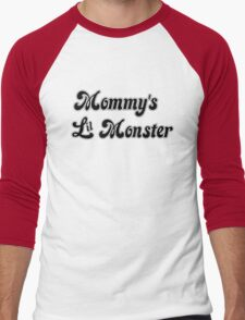 Mommy's Lil Monster Men's Baseball ¾ T-Shirt
