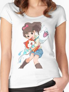 Yokai Watch : Anime 2 Women's Fitted Scoop T-Shirt